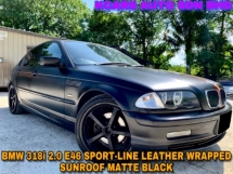 2005 BMW 3 SERIES 318I SUNROOF SPORT-LINE LEATHER MATTE BLACK