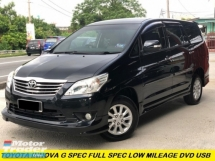 2014 TOYOTA INNOVA 2.0G (AT) G LIMITED EDITION  ONE LADY OWNER FULL SERVICE RECORD TV PLAYER
