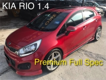 2014 KIA RIO 1.4 (A) PREMIUM FULL SPEC-SUNROOF,PUSH START,BODYKITS & ETC. 1 OWNER, ORIGINAL LOW MILEAGE , NO REPAIRS NEEDED !!
