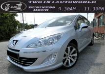 2012 PEUGEOT 408 1.6 THP (A)F-LOAN/6 SPEED/LEATHER SEAT/ORIGINAL LOW MILEAGE/1ONWER