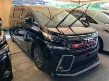 2017 TOYOTA VELLFIRE 2.5 ZG pilot seat 4 camera power boot 2 power doors bodykit precrash system unregistered