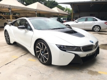 2016 BMW I8 1.5 e-Drive Turbocharged + Hybrid Synchronous Motor 360 Surround Camera Head Up Display Adaptive Intelligent LED Multi Function Paddle Shift Steering Bucket Seat Drive Selection Pre-Collision Safety Unreg