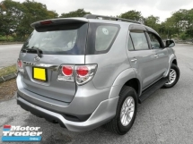 2013 TOYOTA FORTUNER TOYOTA FORTUNER 2.7 SUV 4WD 7 SEATER