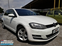 2013 VOLKSWAGEN GOLF 1.4 (A) MK7 1 CAREFUL OWNER ACC FREE LOW MILEAGE KEPT WELL RAYA PROMOTION PRICE.