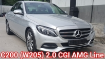 2016 MERCEDES-BENZ C-CLASS C200 (W205) 2.0 AMG Line (CKD) Ori 38k Km Mileage Full Service By Mercedes Balakong Everything Keep Like New Car Condition Worth Buy
