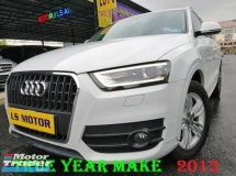 2013 AUDI Q3 2.0 S-LINE FACELIFT TFSI QUATTRO AUTO - S TRONIC - FULL LEATHER - FULL SERVICE RECORD AUDI - 4NEW TYRE - KEYLESS - PUSH START - FULL LOAN - RM0 D.PAYMENT...