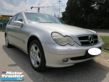 2002 MERCEDES-BENZ C-CLASS C240 2.6 (A) AVANTGARDE Accident Free Like New Tip Top Condition