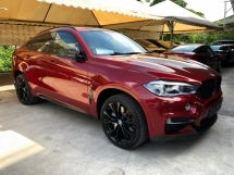 2015 BMW X6 M Performance M50d 3.0 Twin Turbocharged 376hp 360 Surround Camera Sun Roof Harman Kardon Surround Pre Crash Adaptive Intelligent LED Paddle Shift Automatic Power Boot Sport Plus Eco Selection Unreg