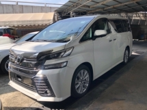 2015 TOYOTA VELLFIRE Unreg Toyota Vellifre ZA 7seats 360view PowerBoot Sunroof Push Start 7G
