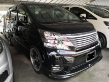 2011 TOYOTA VELLFIRE 3.5 Z Platinum Gold 2 TRUE YEAR MADE 2011 with Memory Electric Seat Sunroof Coolbox High Spec 2016