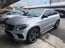 2017 MERCEDES-BENZ GLE GLE43 AMG Coupe 3.0 Bi-Turbo Fully Loaded Original 14,000KM Fully Under Warranty by Mercedes Benz Malaysia Until NOV 2021 Panoramic Roof Harman Kardon 360 Surround Camera Power Boot