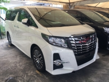2017 TOYOTA ALPHARD 2.5 SC PACKAGE MPV SUN ROOF FULL VIEW CAM LIKE NEW