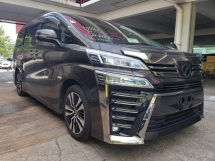 2018 TOYOTA VELLFIRE 2.5ZG Edition (UNREG) PILOT SEAT SUNROOF FULL NAPPA LEATHER