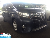 2015 TOYOTA ALPHARD 2.5 UNREG TRUE YEAR MADE CAN PROVE.3 POWER DRS N BOOT.360 SURROUND CAMERA.LED LIGHT.2 WHEEL DRIVE.DVD MONITOR.SPORT RIM N ETC.FREE WARRANTY N MANY GIFTS