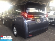 2015 TOYOTA ALPHARD 2.5 UNREG TRUE YEAR MADE CAN PROVE.3 POWER DRS N BOOT.360 SURROUND CAMERA.LED LIGHT.FRONT BACK DVD MONITOR.SPORT RIM N ETC.FREE WARRANTY N MANY GIFTS