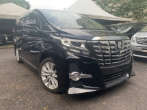 2015 TOYOTA ALPHARD JBL AUTO PARKING (RM2177  MONTHLY)2 POWER DOOR 7 SEATER UNREG