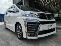 2018 TOYOTA VELLFIRE 2.5 ZG SR Pre Crash PB Unreg Sale Offer