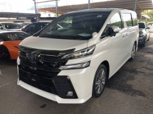 2016 TOYOTA VELLFIRE 2.5 Z Golden Eye Edition 360 Surround Camera Automatic Power Boot 2 Power Door Moon Roof Sun Roof 7 Seat Half Leather 9 Air Bag Smart Entry Push Start Button Intelligent LED Bluetooth Connectivity Unreg