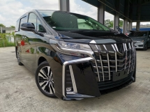 2018 TOYOTA ALPHARD 2.5 SC SUNROOF DIM 3LED BLACK UNREG