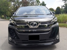 2016 TOYOTA VELLFIRE 2.5X (A)- REGISTERED 2018 LIKE NEW CAR