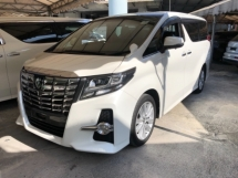 2015 TOYOTA ALPHARD Unreg Toyota Alphard SA 2.5 Sunroof 7seather 360view PowerBoot Push Start 7G