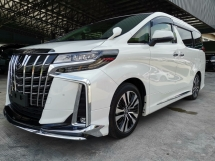 2018 TOYOTA ALPHARD 2.5 SC DIM SR Pre Crash PB Unreg Sale Offer