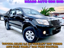 2014 TOYOTA HILUX DOUBLE CAB 2.5G VNT(AT) FACELIFT TURBO FAMILY WEEKEND FREE WARRANTY FREE COATING