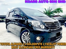 2015 TOYOTA ALPHARD 2.4 Golden Eyes POWER BOOT ALCANTARA FREE WARRANTY
