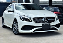 2016 MERCEDES-BENZ A-CLASS A 180 AMG FACE LIFT WHITE PEARL COLOR JAPAN PREMIUM SELECTION SPEC UNREGISTERED