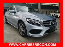 2014 MERCEDES-BENZ C-CLASS C200 AMG FULL SPEC - RED LEATHER/PANAROMIC ROOF/POWER BOOT - UNREG JAPAN SPEC