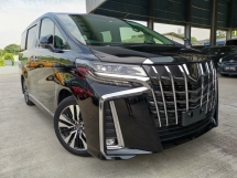 2018 TOYOTA ALPHARD 2.5 SC BSM JBL SUNROOF BLACK OFFER UNREG