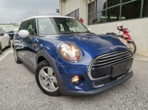 2016 MINI Cooper 1.5 TURBO 5 DOOR BLUE OFFER UNREG