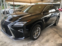 2016 LEXUS RX RX200t F Sport 2.0 Turbocharged 4WD Sun Roof 360 Surround Camera Pre Crash Head Up Display Running LED Intelligent Lane Departure Assist Multi Function Paddle Shift Steering Smart Entry Lane Departure Assist Bluetooth Connectivity Unreg