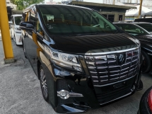 2015 TOYOTA ALPHARD  2.5 SC (JBL HOME THREATER FULL LEATHER 360 CAMERA) FULL SPEC UNREG