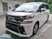 2016 TOYOTA VELLFIRE 2.5 GOLDEN EYES WHITE EDITION PRE CRASH STOP SYSTEM SUNROOF 360 SURROUND CAMERA POWER BOOT