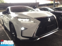 2016 LEXUS RX 200 T F SPORT FULLSPEC.UNREG.NO HIDDEN CHARGE.TRUE YEAR MADE CAN PROVE.ORI 360 SURROUND CAMERA.SPORT PADDLE SHIFT N RIM.MEMORY SEAT.RED LEATHER.3RD ROW ELECTRIC SEAT.POWER BOOT.LED LIGHT N ETC