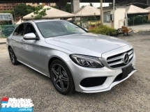 2014 MERCEDES-BENZ C-CLASS C180 AMG W205 UNREG JPN.NO HIDDEN CHARGE.TRUE YEAR MADE CAN PROVE.PADDLE SHIFT.MEMORY SEAT.LEATHER.REVERSE CAMERA.LED DAYLIGHT.PARKTRONIC.XENON LAMP N ETC.FREE WARRANTY N MANY GIFTS