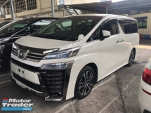2018 TOYOTA VELLFIRE 2.5 ZG New Facelift 3LED Running Adaptive LED Rear Camera Mirror Sun Roof Moon Roof 360 Surround Camera Pilot Memory Full Leather Seat Power Boot 2 Power Doors Pre-Crash LDA RSA 9 Air Bags Unreg