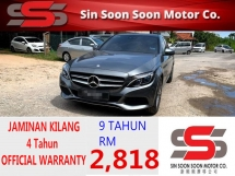 2017 MERCEDES-BENZ C-CLASS 2.0 Avantgarde AMG Sedan PREMIUM FULL Spec(AUTO)2017 Only 1 UNCLE Owner, 36K Mileage 4 YEARS WARANTY