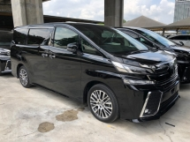 2016 TOYOTA VELLFIRE 2.5 ZG Edition 360 View Surround Camera Memory Pilot Seat Automatic Power Boot 2 Power Doors Intelligent Bi-LED Smart Entry Push Start 3 Zone Climate Roller Blind Auto Lights Wiper 9 Air Bags Unreg