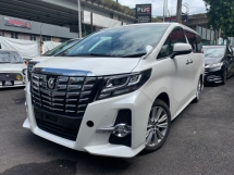 2016 TOYOTA ALPHARD 2.5 BIG ALPINE PALYER AND MONITOR 2 POWER DOOR 7 UNREG