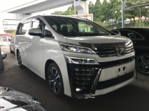 2018 TOYOTA VELLFIRE 2.5 ZG FACELIFT SUNROOF NAPPA LEATHER PRE CRASH 2018 JAPAN UNREG