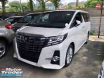 2015 TOYOTA ALPHARD Unreg Toyota Alphard SA 2.5 7seather 360view PowerBoot Push Start Keyless 7Speed