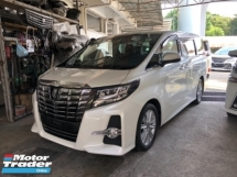 2015 TOYOTA ALPHARD Unreg Toyota Alphard SA 2.5 JBL Sounds 7seather 360view PowerBoot Push Start 7G Keyless