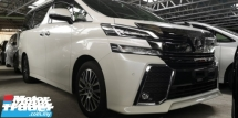 2016 TOYOTA VELLFIRE ZG 2.5 / SUNROOF / TIPTOP CONDITION / 4 YEARS WARRANTY UNLIMITED KM / READY STOCK NO NEED WAIT