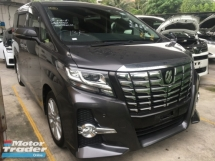 2016 TOYOTA ALPHARD 2.5 S TYPE BLACK MPV 8 SEAT POWER BOAT FULL VIEW CAM