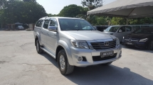 2013 TOYOTA HILUX DOUBLE CAB 2.5G (AT) Come With Hard Top Canopy Super Smooth Condition Confirm No Off Road Drive Worth Buy