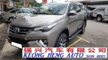 2017 TOYOTA FORTUNER 2.7V SRZ PETROL (A) REG 2017, ONE CAREFUL OWNER, FULL SERVICE RECORD, LOW MILEAGE DONE 32K KM, UNDER UMW TOYOTA WARRANTY UNTIL FEBRUARY 2022
