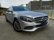 2014 MERCEDES-BENZ C-CLASS C180 AVANTGARDE SILVER BLUE OFFER UNREG