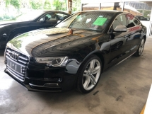 2015 AUDI S5 3.0 TFSi V6 333hp Sport Back Daytime Neon Xenon Light MMi Memory Bucket Seat Multi Function Paddle Shift Steering Dual Zone Climate Control Auto Cruise Control Bluetooth Connectivity Unreg